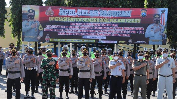 Kapolres Kediri Gelar Apel Pasukan Persiapan Operasi Patuh Semeru 20 September-3 Oktober 2021