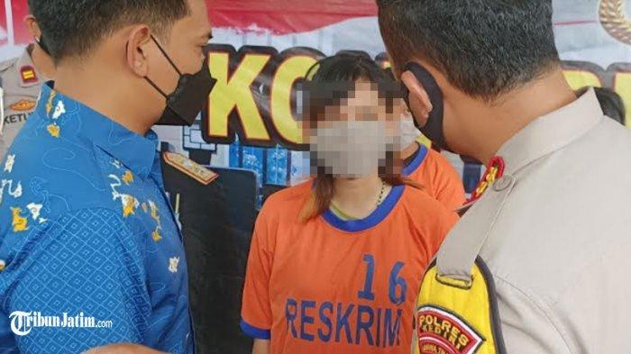 Kapolres Kediri AKBP Lukman Cahyono saat berdialog dengan MJ, tersangka pengeroyokan terhadap Aditya.