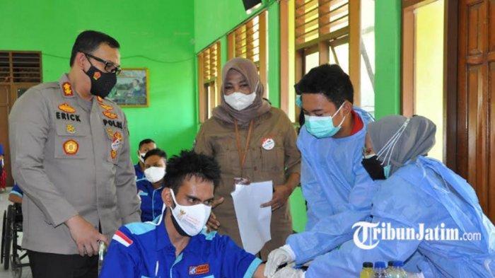 Vaksinasi Untuk Penyandang Disabilitas di Pasuruan Tuntas, Berikut Kata Kapolres