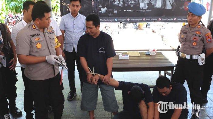 UPDATE Kasus Begal Truk di Trenggalek, Satu Pelaku Sering Pakai Pistol Buat Rampok Toko Emas