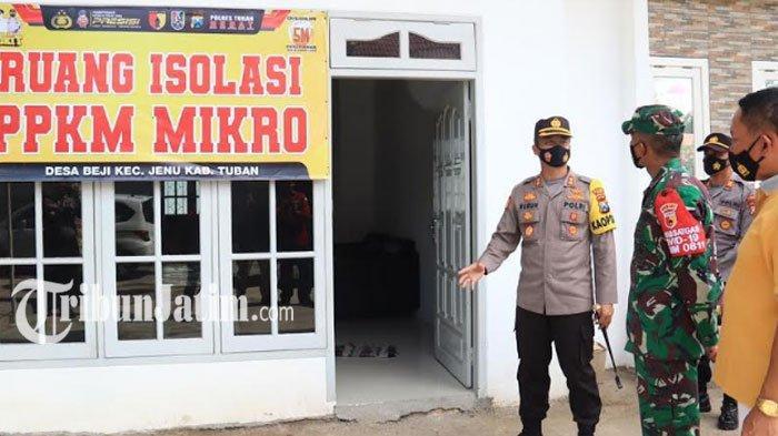 Cek Posko PPKM Mikro di Tuban, Kapolres Ruruh Beber Skenario Pengendalian Covid-19 Sesuai Zona