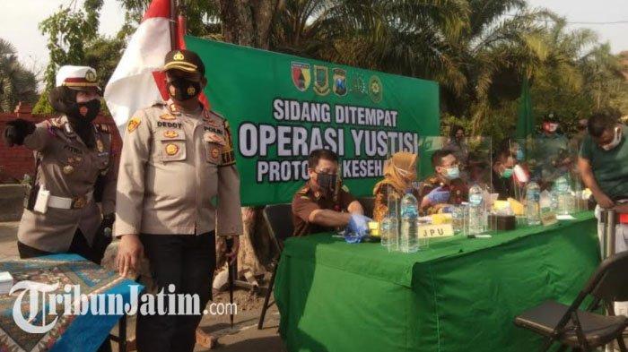 Tak Pakai Masker, Ratusan Pengendara di Kota Mojokerto Terjaring Operasi Yustisi Protokol Kesehatan