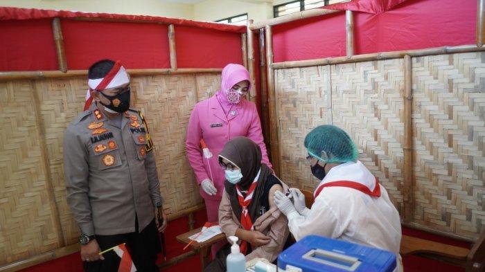 Program Serbuan Vaksinasi Merdeka Polresta Probolinggo Sasar Kalangan Pelajar