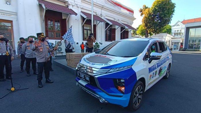 Polrestabes Surabaya Luncurkan Mobil Masker Keliling, Sasaran di Pasar Tradisional dan PKL