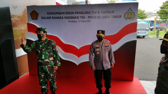 Di Lamongan, Kapolri dan Panglima TNI Ingatkan Warga Taati 3 M, Tekan Penyebaran Covid-19