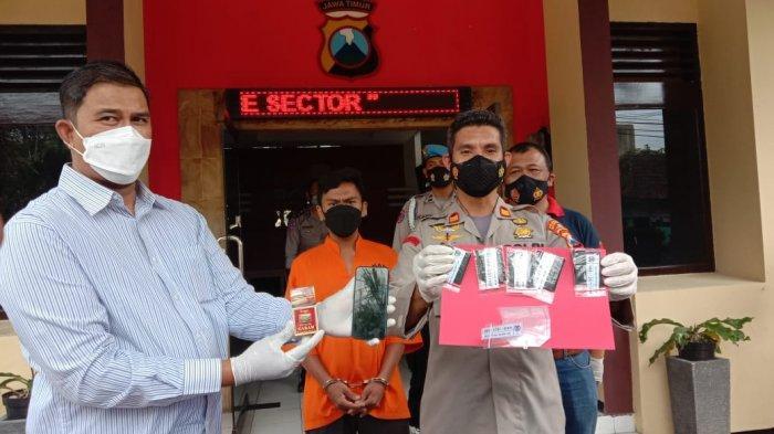 Hendak Berjualan Tembakau Gorila, Tukang Parkir di Kota Malang Ditangkap Reskrim Polsek Klojen