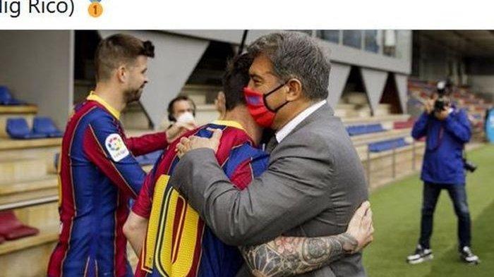 Presiden Barcelona Sebut Negosiasi Perpanjangan Kontrak Messi di Blaugrana Berjalan Lancar
