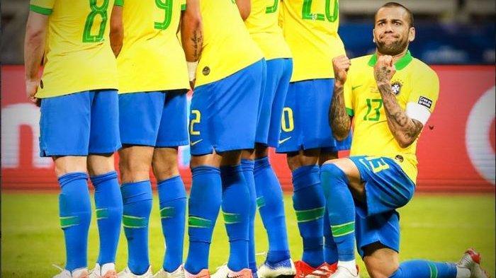 Olimpiade Tokyo 2020 - Brasil Juara, Dani Alves Raih Gelar ke-43 dan Makin Tinggalkan Messi dan CR7