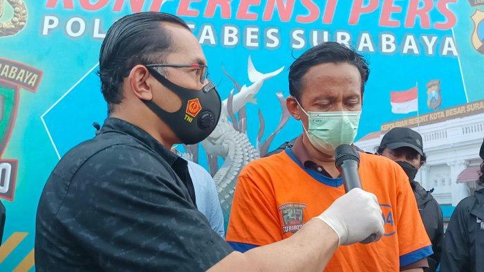 Tertangkap, Penganiaya Bocah di Surabaya Menangis, Ngaku Tak Tega Hantam Korban Pakai Paving