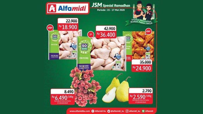 Katalog Promo JSM Alfamidi 16-17 Mei 2020, Harga Murah Buah-buahan hingga Biskuit Kaleng