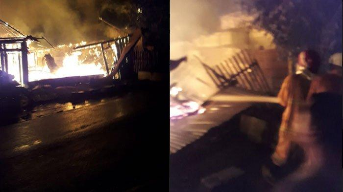Bangunan Material Milik Warga Bojonegoro Ludes Dilahap Api, Korsleting Listrik Diduga Penyebabnya