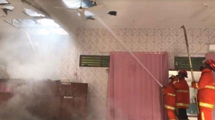 Kebakaran Kantor Cabang Bhayangkari Trenggalek, Tak Ada Korsleting, Diduga Gegara Balon Udara