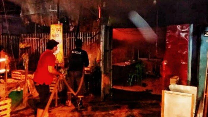 Rumah Makan Pasar Tanjung Anyar Kota Mojokerto Kebakaran, Akibat Bocor Selang Regulator Gas LPG