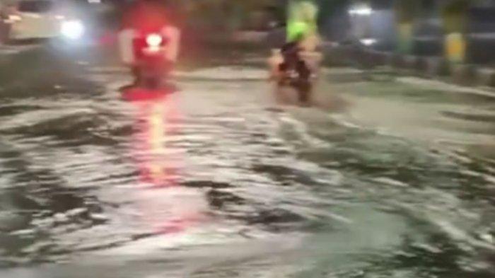 Pipa PDAM Giri Tirta Sepekan Bocor Dua Kali, Airnya Membanjiri Jalan Dr Wahidin Sudirohusodo