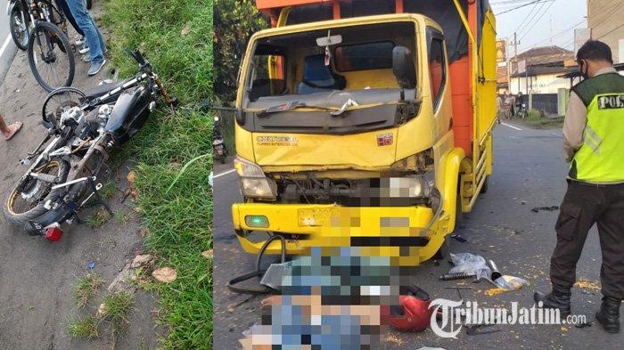 Pengendara Honda CB Asal Karanganyar Tewas di Tempat Setelah Dihantam Truk di Kediri