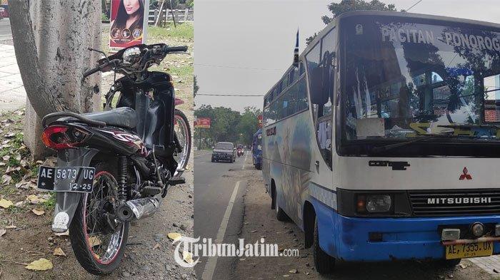 Jalur Ponorogo-Pacitan Makan Korban, Pengemudi Sepeda Motor Tewas Diseruduk Bus
