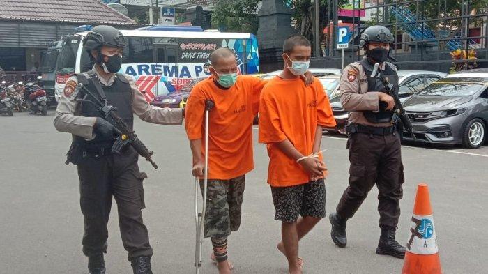 Bawa Pistol Air Gun Saat Beraksi, Dua Tersangka Curanmor Ditangkap Satreskrim Polresta Malang Kota