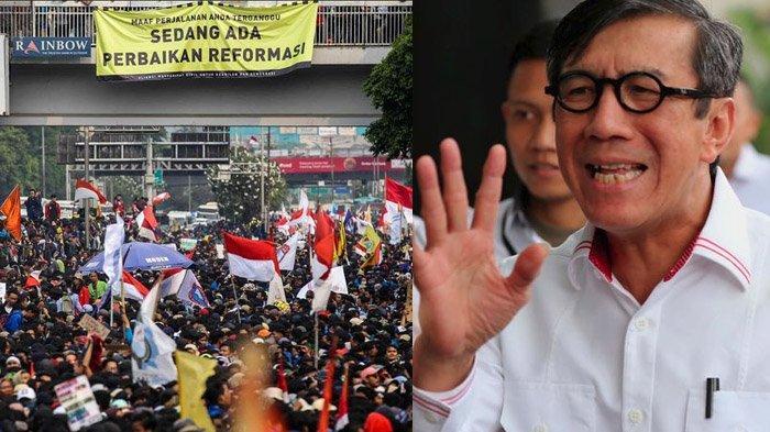 Kemiripan Pola Perusuh Demo Mahasiswa di DPR & 22 Mei Kata Polisi, Menkumham Tuding Aksi Ditunggangi