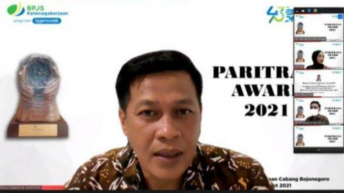 Sosialisasi Penguatan Paritrana Award-Jaminan Kehilangan Kerja, BPJAMSOSTEK Bojonegoro Gelar Webinar