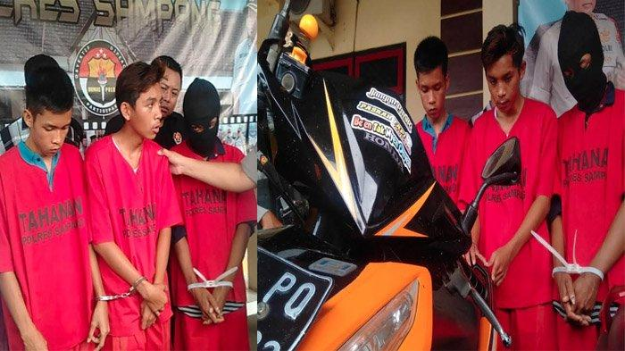 Jambret Modus Serempet Motor Curi HP, Dilaporkan Korban, Pelaku Sembunyi di Area Pemakaman Sampang