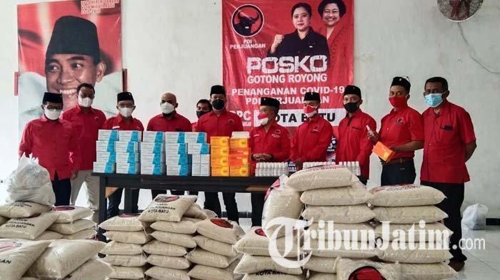 PDI Perjuangan Buka Lima Posko Penyuplai Bantuan Warga Isoman dan Berpenghasilan Rendah di Kota Batu