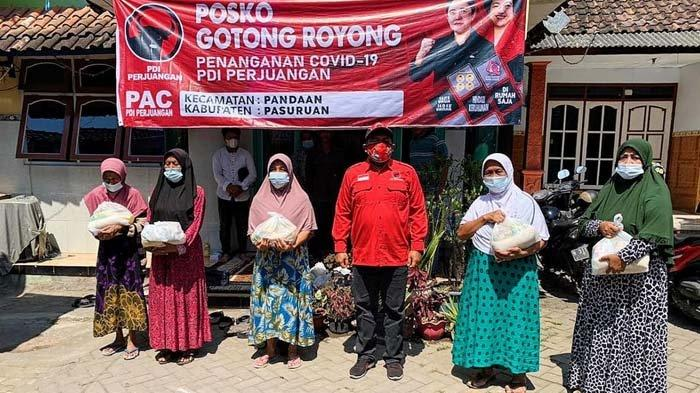 PDIP Pasuruan Buka Posko Gotong Royong Covid-19 di Tiap Kecamatan, Bantu Warga Terdampak Pandemi