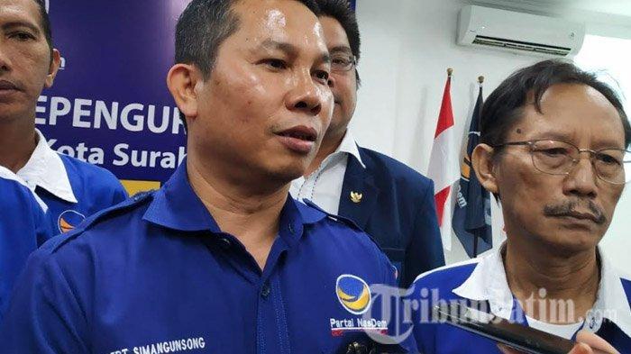 Robert Simangunsong Resmi Pimpin Nasdem Kota Surabaya, Berikut Susunan Pengurusnya