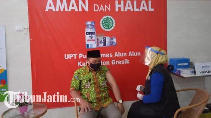7 Pejabat Kabupaten Gresik Jalani Vaksinasi Covid-19 Kedua, Ketua DPRD: Kondisinya Lebih Baik