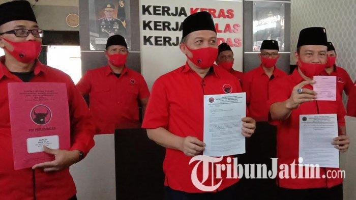 DPC PDIP Kota Malang Buat Aduan Perusakan Bendera Partai di Jakarta ke Polresta Malang Kota