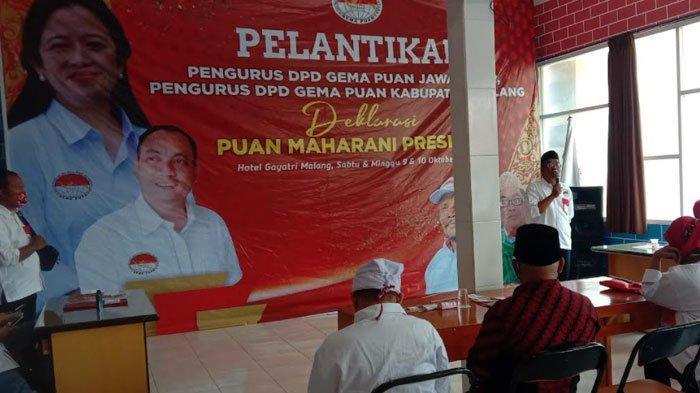 Gelar Pelantikan DPD Gema Puan Jatim, Siap Dukung Puan Maharani Maju Jadi Capres 2024