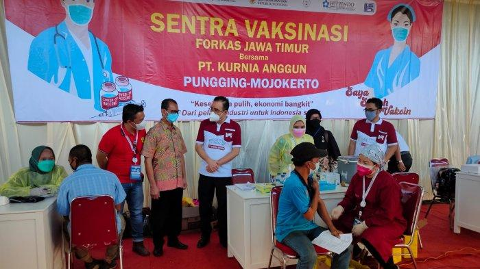 Forkas dan Hippindo Fasilitasi Vaksinasi Pekerja, IKM dan Industri kecil di Mojokerto