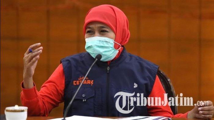 Jawaban Khofifah Soal Surabaya dan Malang Tengah Ajukan PSBB Cegah Corona: Saat Ini Belum Ada