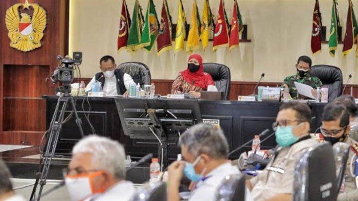 Gubernur Jatim Khofifah Gelar Rakor Antisipasi Lonjakan Kasus Covid-19 Dampak Lebaran