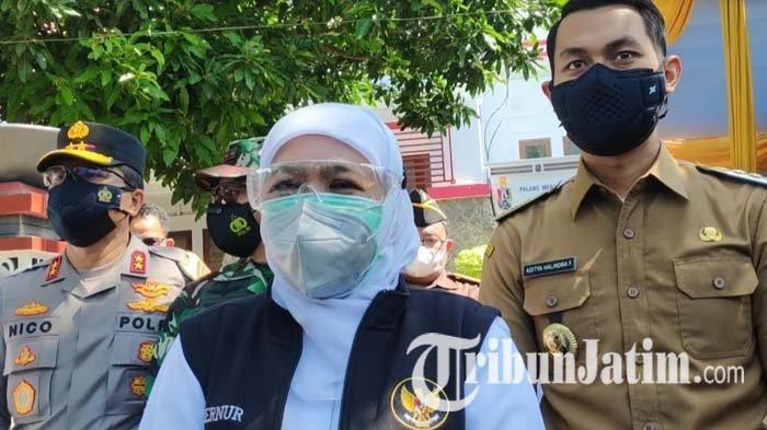 Hadiri Gerakan Serentak Lawan Covid-19 di Tuban, Khofifah Minta Patuhi Prokes dan PPKM Darurat