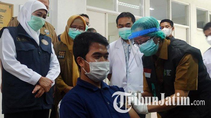 19 Daerah di Jawa Timur Telah Rampungkan Vaksinasi Covid-19 Dosis Pertama SDM Kesehatan