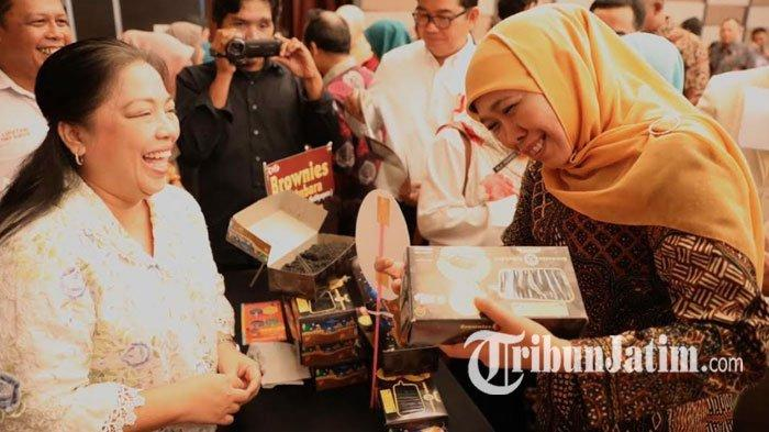 Khofifah Pimpin Misi Dagang di Kalimantan Timur,  Baru Dibuka Transaksi Sudah Capai Rp 104 M