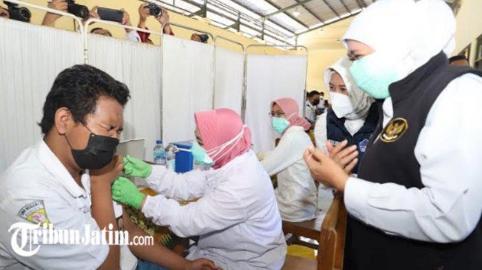 Vaksinasi Covid-19 Serentak Pelajar SMA SMK Negeri di Jawa Timur, Per Sekolah Dijatah 1.000 Dosis