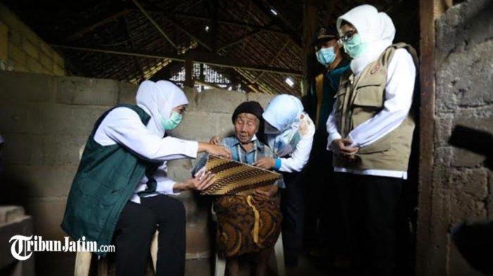 Gubernur Khofifah Tinjau Dampak Gempa Blitar, Bangun Kemandirian Mitigasi Bencana Lewat Desa Tangguh