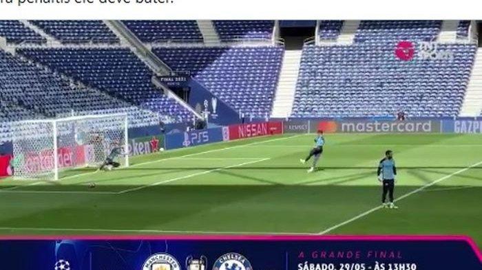 Kiper Manchester City Latihan Penalti Jelang Final Champions, Cetak 10 Gol dari 11 Eksekusi
