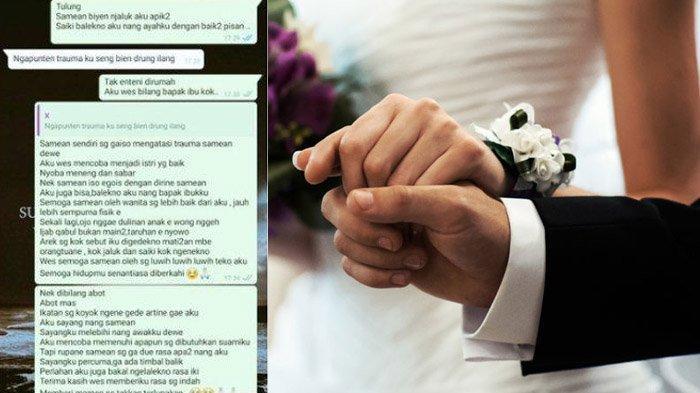 Tragedi Pernikahan Wanita di Malang Berakhir Pilu, Hanya Indah 3 Hari: Ingat Wajah Dia Aku Ketakutan