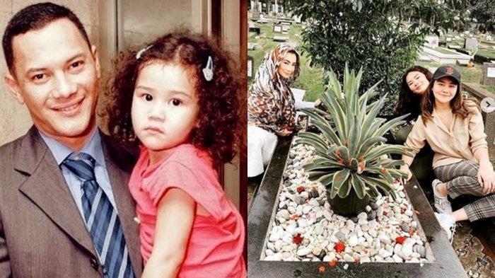 Kolase foto almarhum Adjia Massaird, Reza Artamevia dan dua putrinya, Aaliyah serta Zahwa. (instagram.com/aaliyah.massaid)