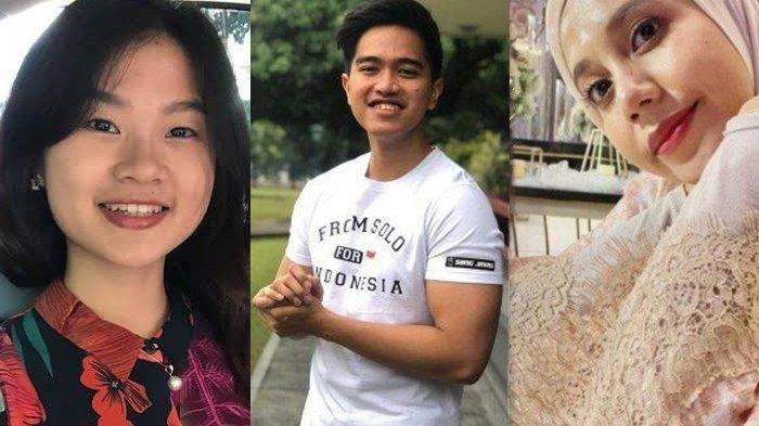 Kolase foto Felicia Tissue, Kaesang Pangarep dan Nadya Arifta.