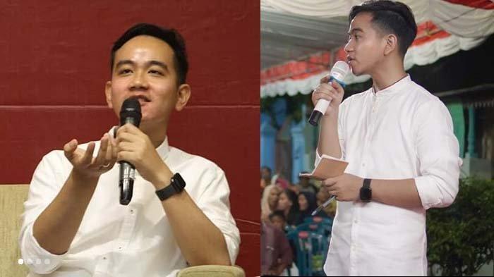 Kolase foto Gibran Rakabuming, putra Presiden Jokowi.
