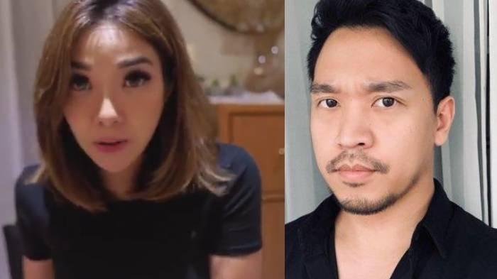Kolase foto Gisella Anastasia dan pria berinisial MYD. Keduanya kini ditetapkan sebagai tersangka kasus video syur.