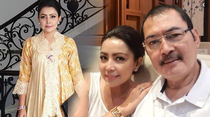 Kolase foto Mayangsari dan suaminya, Bambang Trihatmodjo.