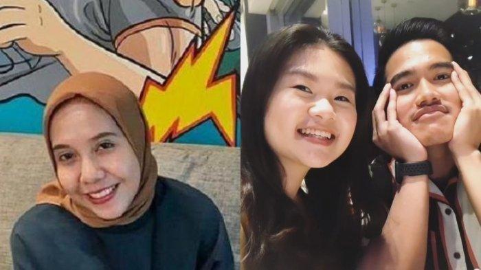 Kolase foto Nadya Arifta, Felicia Tissue dan Kaesang Pangarep.