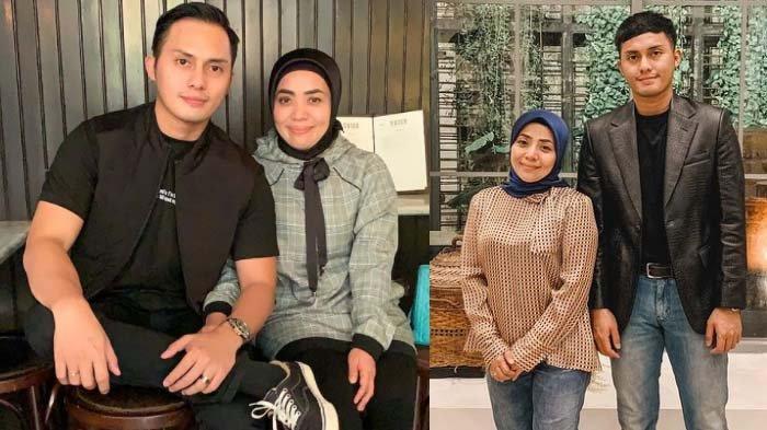 Kolase foto pasangan Muzdalifah dan Fadel Islami.