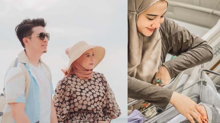 Kolase foto Zaskia Sungkar, Irwansyah dan anak mereka yang baru lahir.