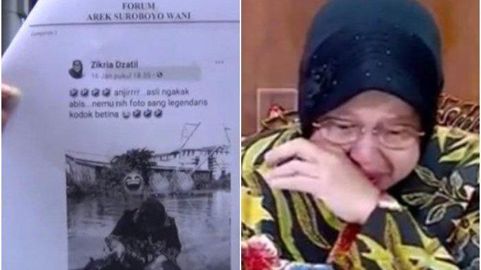 Zikria Dzatil Diduga Menghina Wali Kota Surabaya di FB, Kini Memanggil Risma dengan Sebutan 'Bunda'