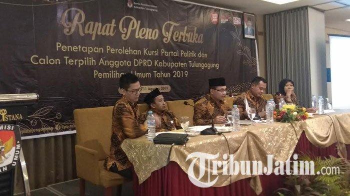 Hasil Penetapan KPU Tulungagung, Dapil 1 PDIP Mendominasi 3 Suara